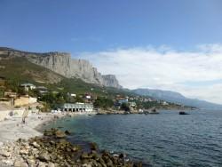 Вид на Форос с пляжа | Недвижимость Крым, ЮБК, Ялта