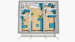коттедж 286 кв.м. 2 этаж планировка | Недвижимость Крым, ЮБК, Ялта