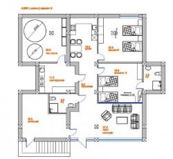 План цокольного этажа или нулевой | Недвижимость Крым, ЮБК, Ялта